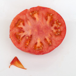 Sliced fruit showing yellow epidermis